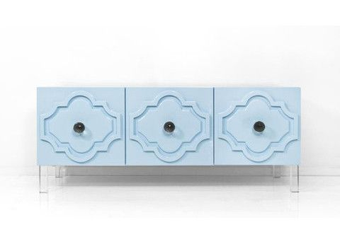 Spice up your decor with a piece from our Modern Moroccan collection. Available in Sunshine Yellow or Ice Blue, the Marrakesh Credenza is sure to bring an eleme