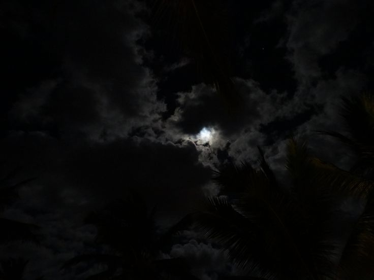 moon and clouds, Mauritius