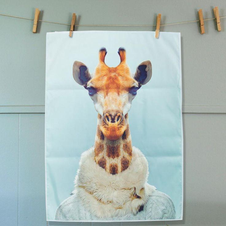 The Design Gift Shop - ANNABEL TRENDS | Tea Towel | Giraffe, $15.90 (http://www.thedesigngiftshop.com/annabel-trends-tea-towel-giraffe/)