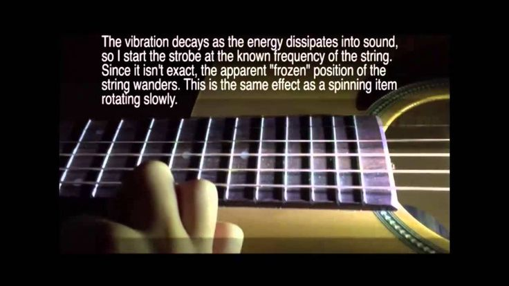 LabStrobe Acoustic Guitar stop motion measurements