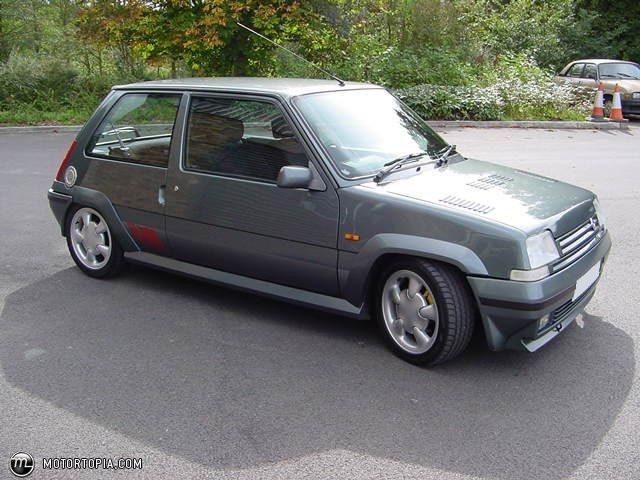 Renault 5 GT Turbo. Late 80's ride. A very fast car with reduced turbo-lag.