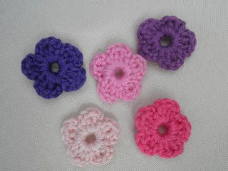Super Simple Crochet flower / Patroon gehaakt allersimpelst bloemetje