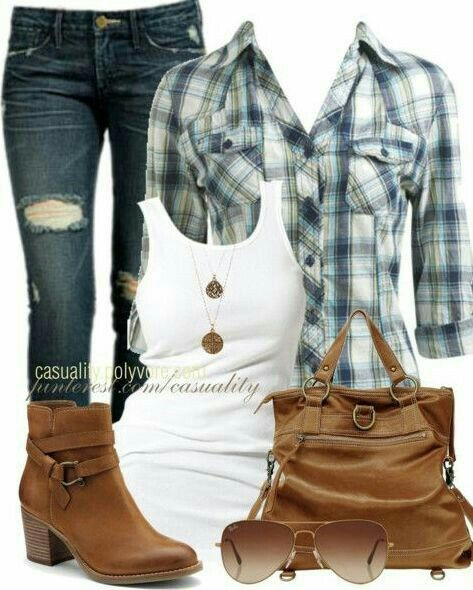 flannels and boots!
