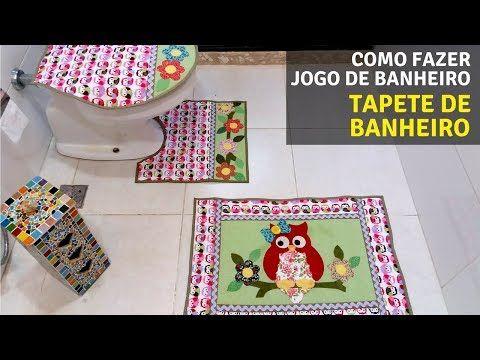 Passo a passo Jogo De Banheiro Coruja! Com moldes grátis! Parte 1! - YouTube