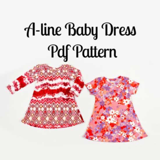 A line Baby Dress Pattern - MammaCanDoIt  - 1