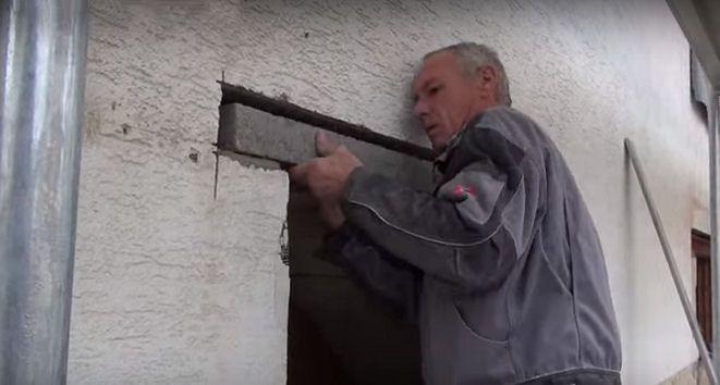 Einen Mauersturz einbauen