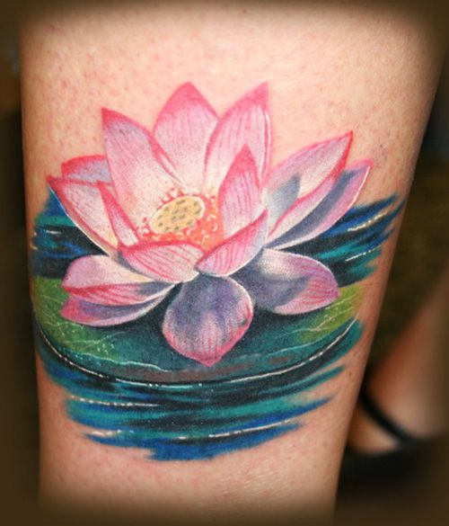 lotus flower tattoo - Google Search hoping to put a butterfly and a frog somewhere with this for a half sleeve