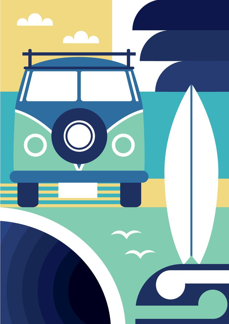 Print inspired by west coast of Auckland, NZ.
