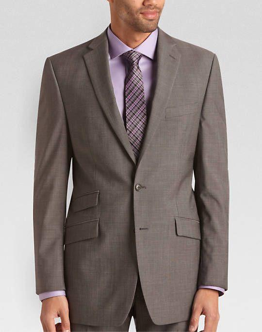 Calvin Klein Gray Check Slim Fit Suit
