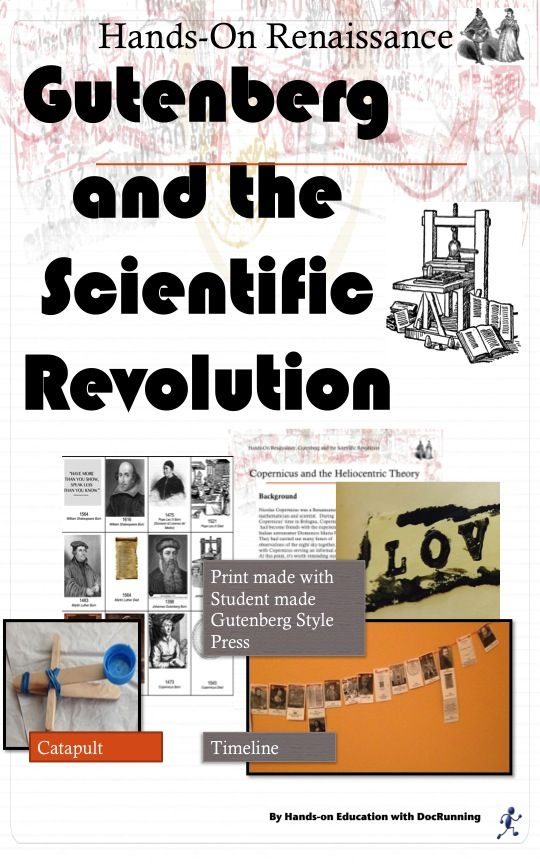 Make a timeline; build a catapult; create a printing press in this inquiry-based lesson on Gutenberg and the Scientific Revolution.
