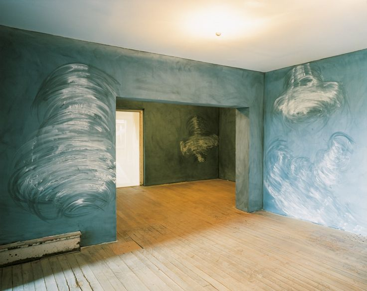 Gary Simmons, Ghost House (detail of installation view), 2001.