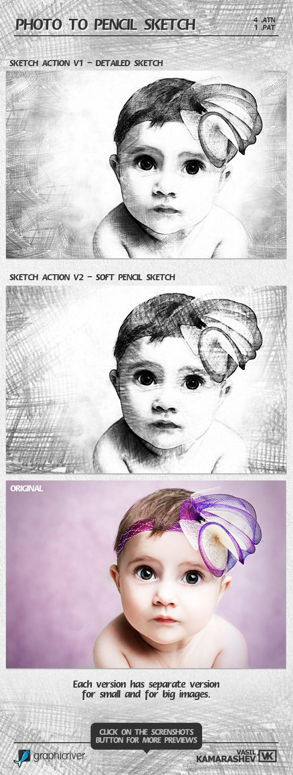 Photo to Pencil Sketch Photo Effects #ps #action Download: http://graphicriver.net/item/photo-to-pencil-sketch/6674568?ref=ksioks