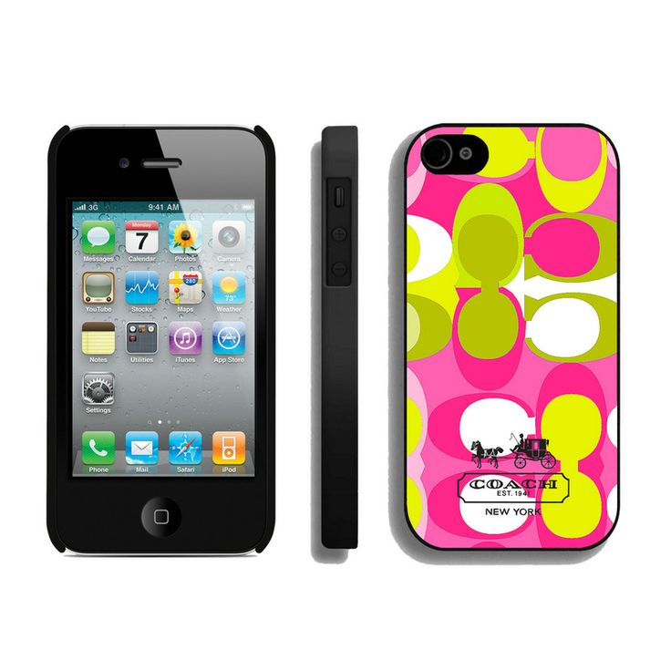 Coach In Signature Multicolor iPhone 4 4S Cases AIO #Outlet
