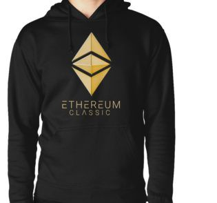 Ethereum Classic simple (gold) Hoodie (Pullover) designed by András Balogh
