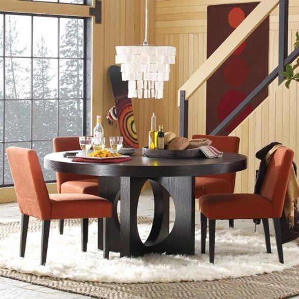 Mesa de jantar redonda moderna