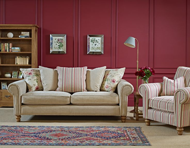 Lavenham Large sofa with scatterback cushion back   The Lavenham Armchair   Both with the foot. 11 best Lavenham Upholstery images on Pinterest   Upholstery
