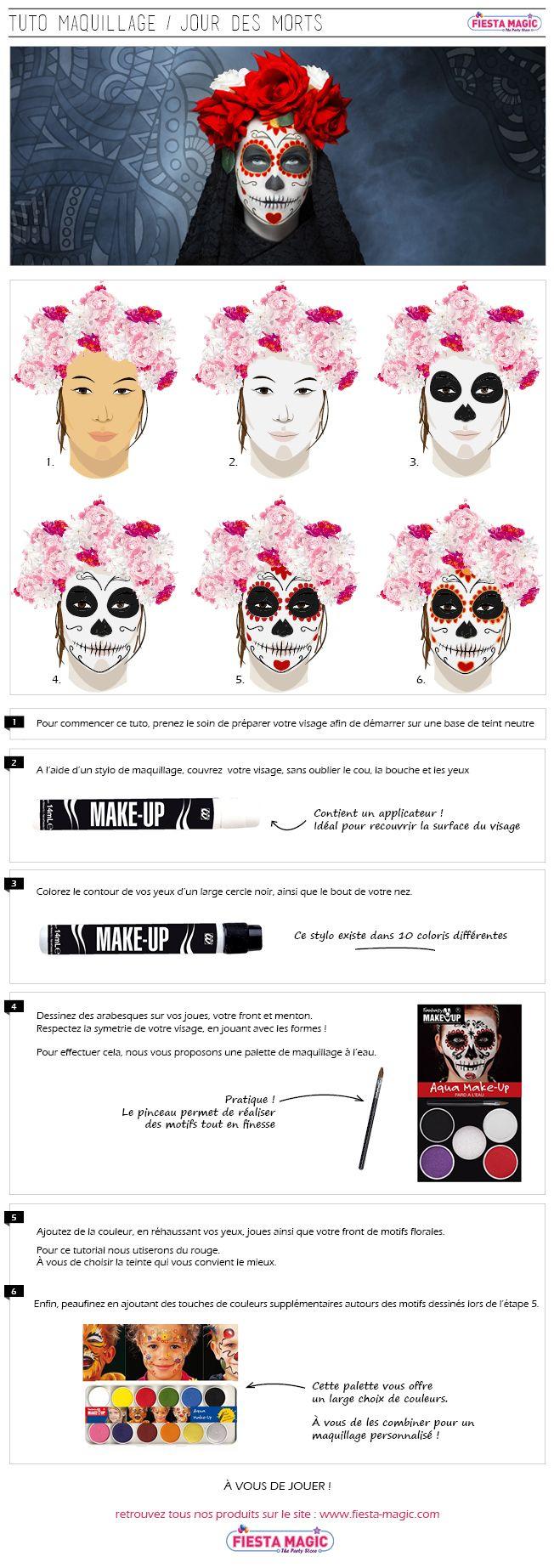 Comment se maquiller en catrina jour des morts par fêtes and fun