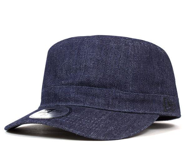 ニューエラ ワーク ミリタリー キャップ インディゴデニム 帽子 送料無料