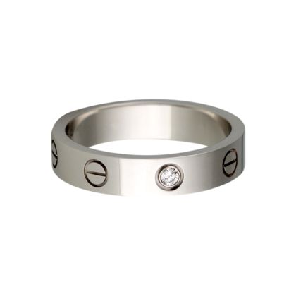 cheap replica cartier love rings jewelry white gold with diamonds