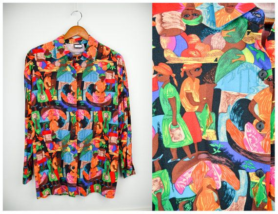90s African shirt, Grunge shirt, 90s clothing, Ebony EStyle Shirt, Novelty, Hipster, Ethnic, Vintage clothing, Vintage clothes