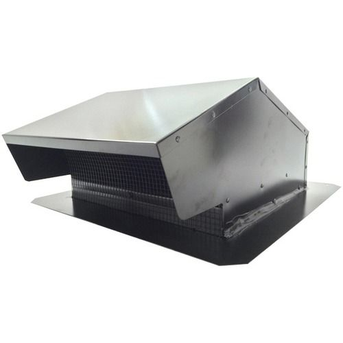 """BUILDERS BEST 012634 Black Metal Roof Vent Cap (6""""""""-8"""""""" (3 1/4"""""""" x 10"""""""") Universal Flush) Specifications: • 26-gauge steel• Black, electrically bonded epoxy finish • Removable 1/4"""""""" x 1/4"""""""" screen • B"""