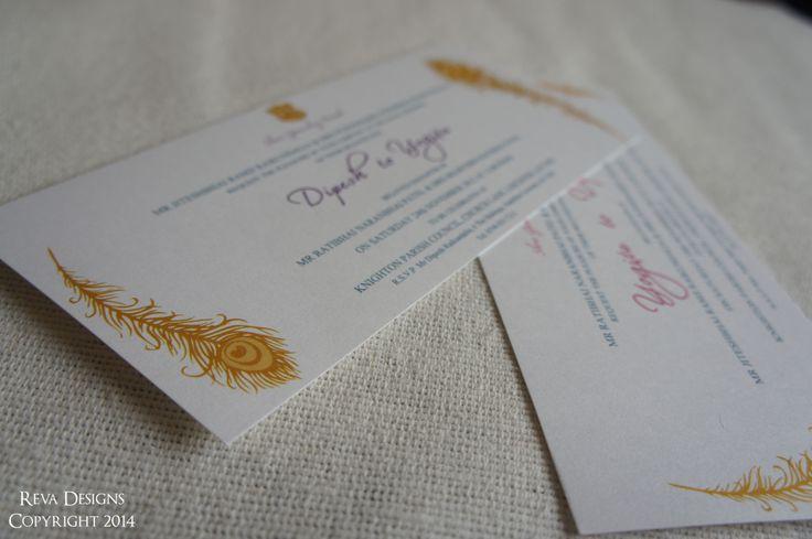 Peacock engagement part invitation