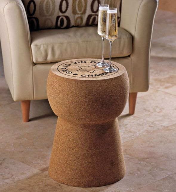 Oversized Champagne Cork Table= love