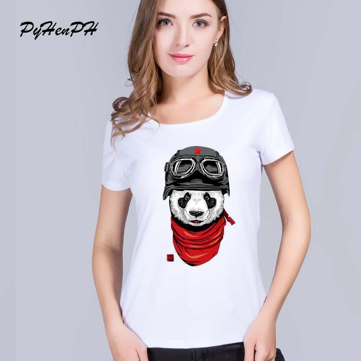 >> Click to Buy << PyHenPH 2016 New Cute Punk  Panda Gangster Cat Dog Print tshirt women O-neck blusa hipster tee shirt femme american apparel #Affiliate