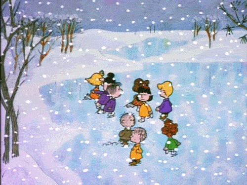Animated | Skating Scene | A Charlie Brown Christmas