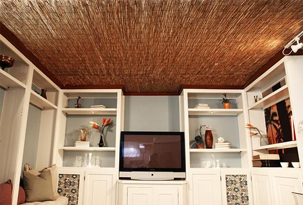 Reed Fence Ceiling For Our Room Idk If It Would Make It