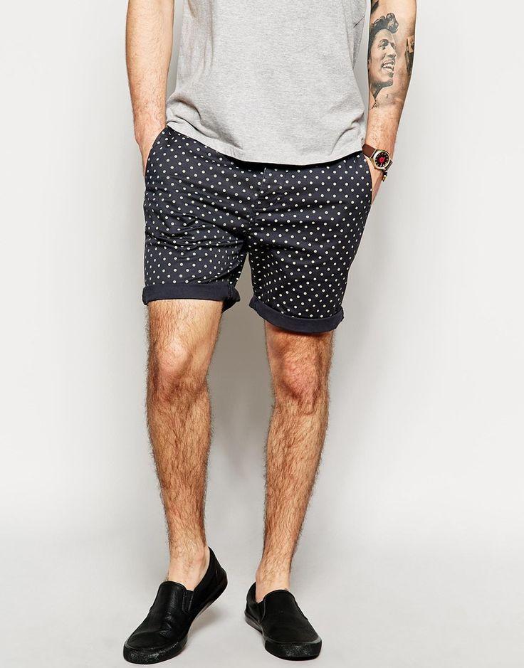 ASOS Chino Shorts With Spot Print