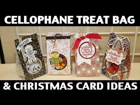 Stamping Jill - Cellophane Treat Bag & Christmas Card Ideas - YouTube