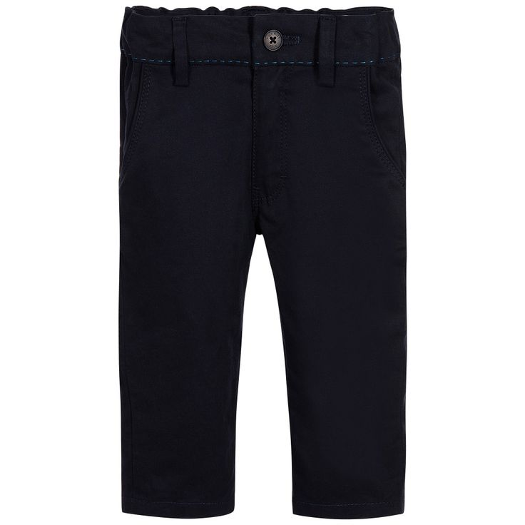BOSS Baby Boys Blue Cotton Trousers