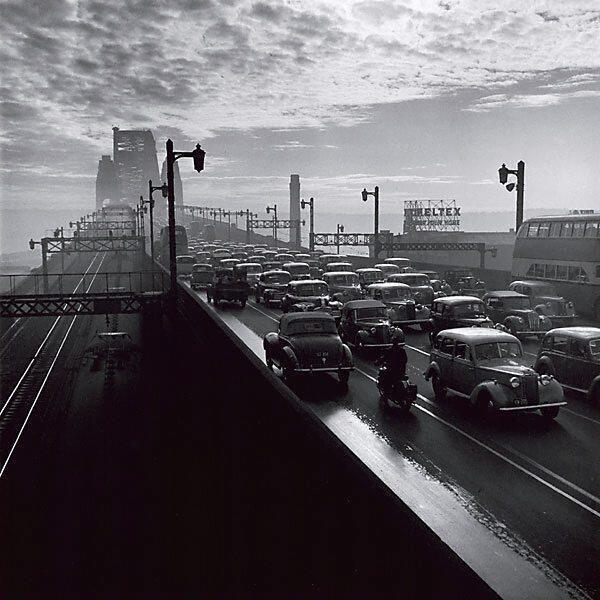 Sydney Harbour Bridge, 1947. Photo by David Moore.