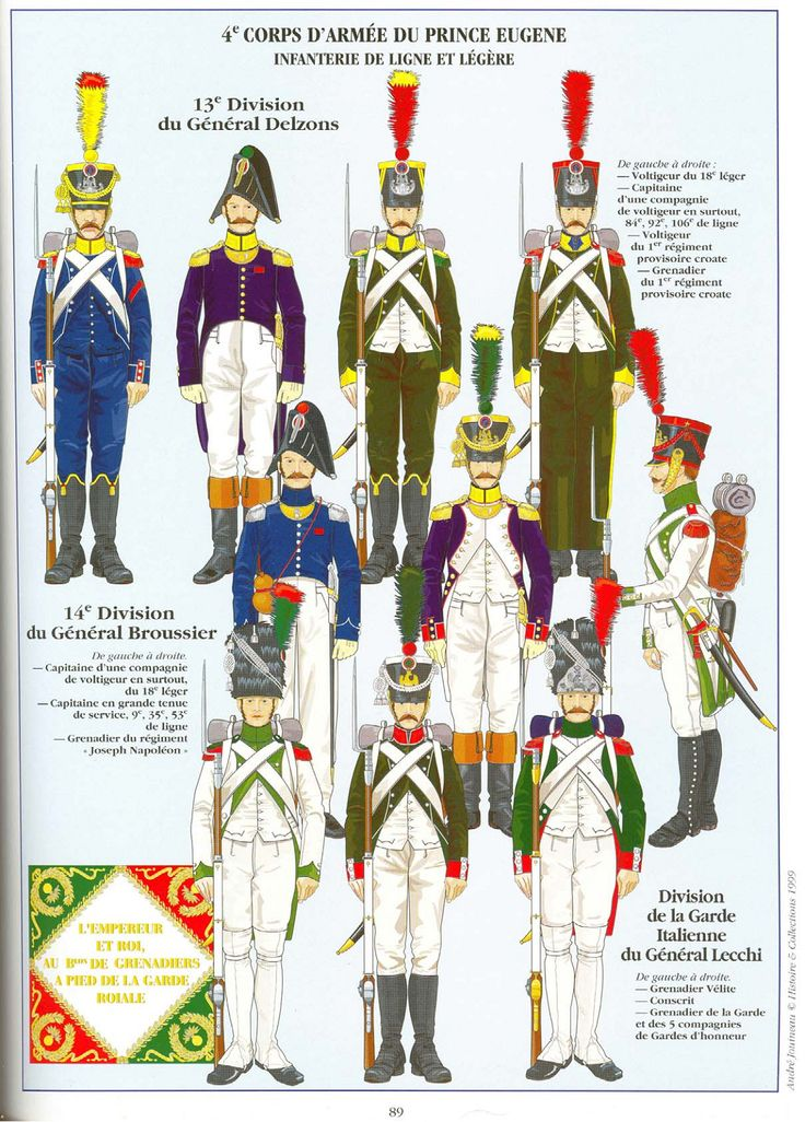 Fanteria di linea e leggera del principe Eugenio