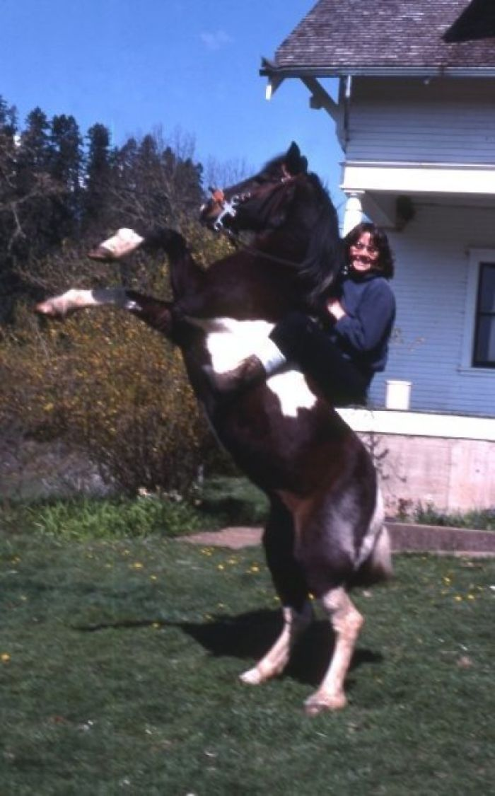 My Mom Being Infinitely Cooler Than I'll Ever Be... Without A Saddle (Late 70s)