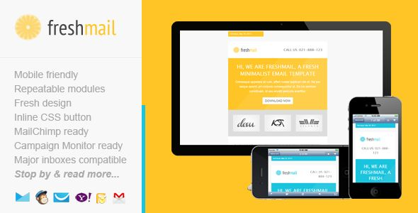 Freshmail is a fresh, minimalist, mobile friendly email template for multipurpose of email marketing campaign. It's quite flexible and very easy to use and customize. On the other hand Freshmail is also compatible in all major inbox coded using my on-going improved framework. Packed with MailChimp and Campaign Monitor ready templates, you can also use Freshmail in other email platforms you may preferred.