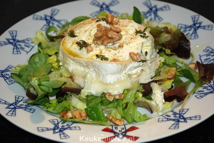Warme geitenkaas salade met appeldressing - Keuken♥Liefde