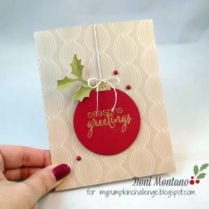 Stampin' Sweet: Easy Holiday Cards with Paper Pumpkin!  November 2015 Paper Pumpkin Kit alternative.