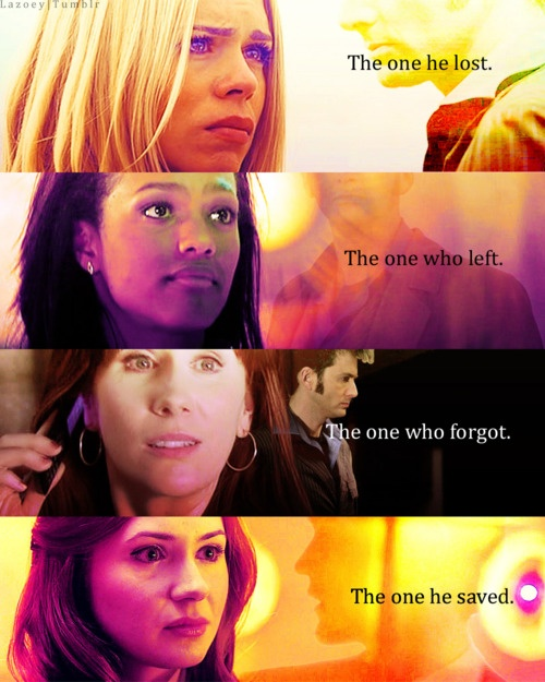 OMG Don't make me cry. :[ <3 Rose, Martha, Donna, and Amy have my hearts. Doctor Who.