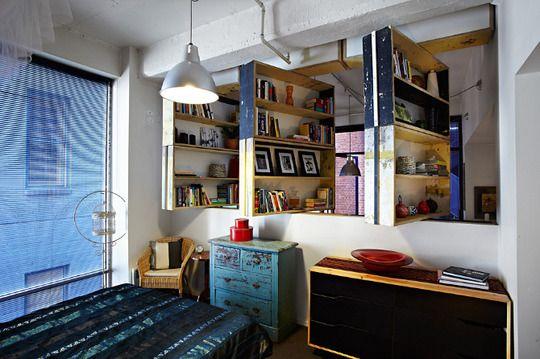 Pivoting Bookshelves.