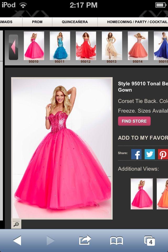 Dark pink grad dress