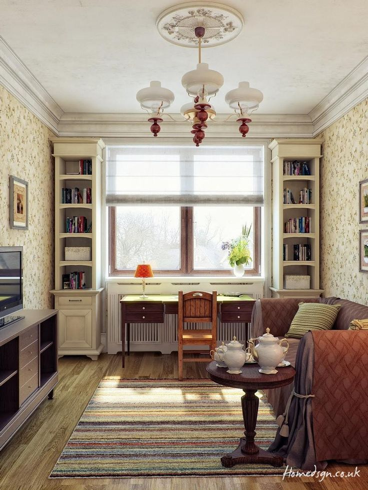 http://taizh.com/wp-content/uploads/2015/06/contemporary-narrow-room-interior-design-with-striped-rug-on-wood-flooring-as-well-chanddelier-in-ceiling-as-well-floral-wallpaper-also-book-shelves-idea-beside-window.jpg