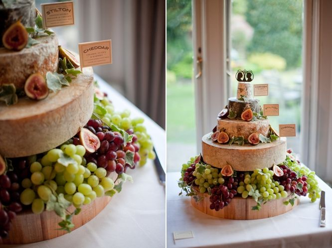 Wow I love this cheese and fruit platter! It was used at a wedding but it would be nice for a brunch or a party too.