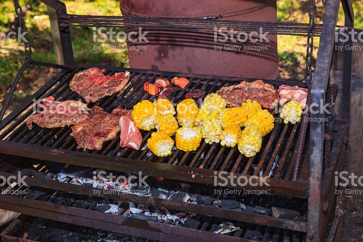 Colombia - Afternoon Barbeque with Meats and Corn royalty-free stock photo