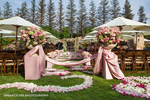 One more of the amazing ceremony set-up. Soooo many FLOWERS!!! #ceremonyperfection #lushflowers #pinkandwhitewedding