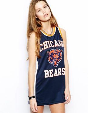 Majestic - Chicago Bears - Robe débardeur style maillot de basket