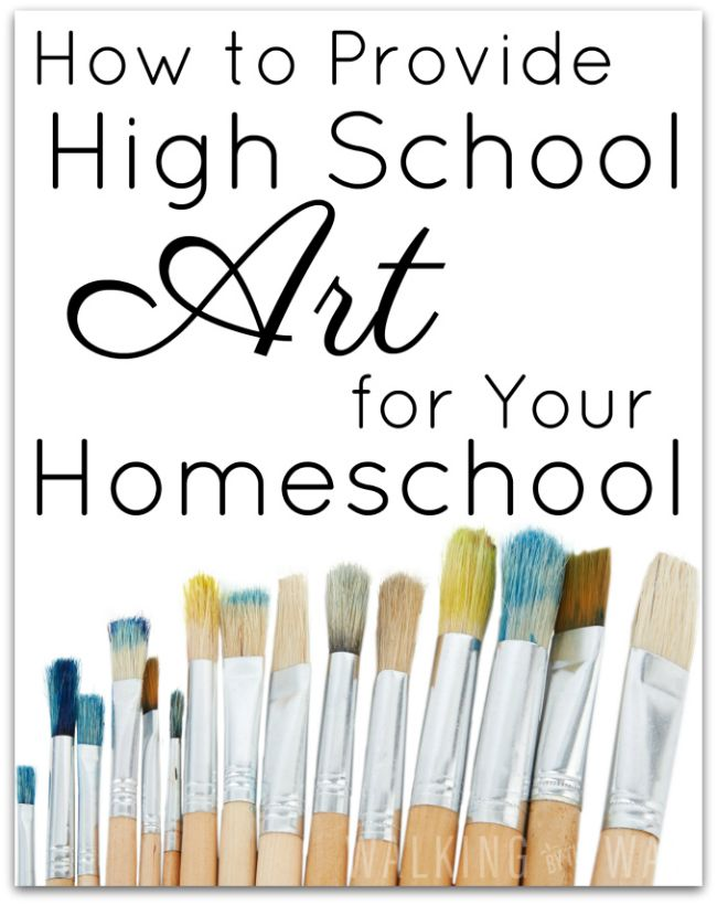 How to Provide High School Art for Your Homeschool...Here are four options for providing high school art for your homeschool student.
