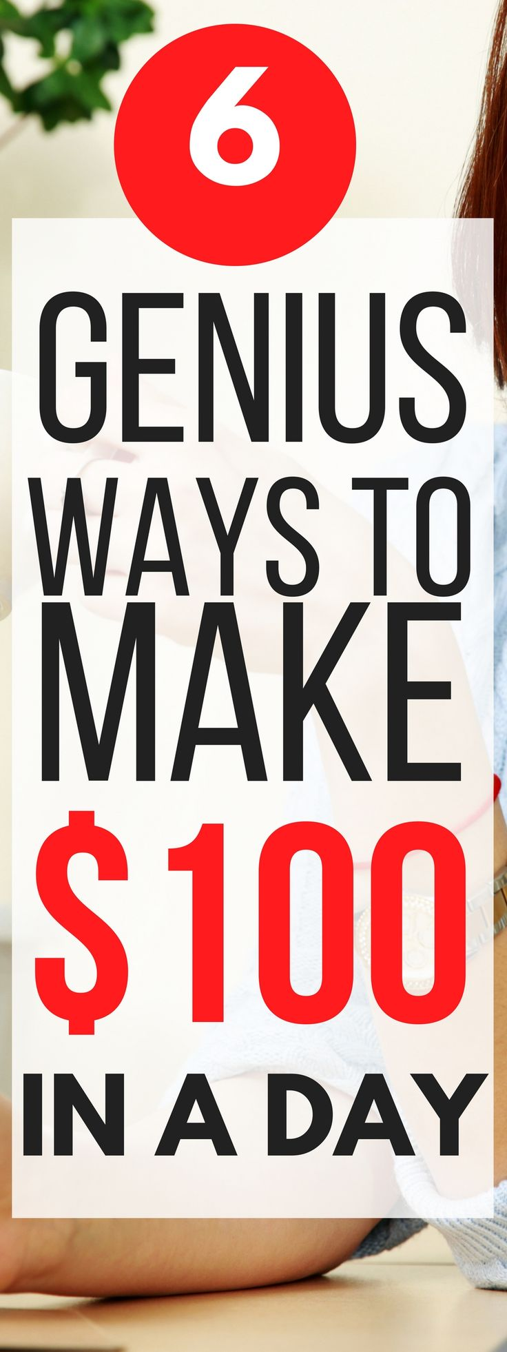 These 6 ways to make an extra $100 in a day are THE BEST! I'm so glad I found this, now I can make extra money in my spare time with these ideas. Pinning for sure!