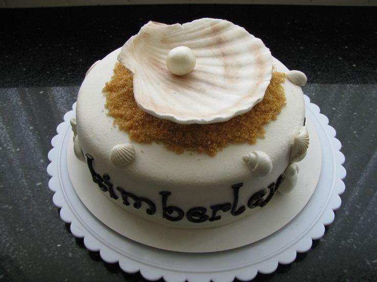 Schelpen en parel taart